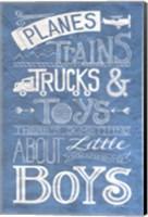 Something About Little Boys Fine Art Print