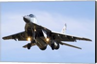 A Bulgarian Air Force MiG-29 prepares for landing Fine Art Print
