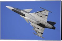 Hungarian Air Force Saab JAS-39C Gripen fighter plane Fine Art Print