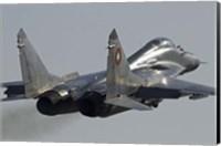Bulgarian Air Force MiG-29 aircraft Fine Art Print