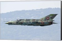 A Bulgarian Air Force MiG-21bis low flying over Bulgaria Fine Art Print