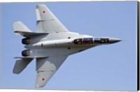 An MiG-29M2 performing at Aeromiting Batajnica 2012 airshow Fine Art Print