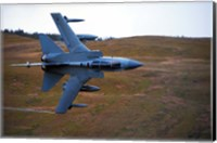 A Royal Air Force Tornado GR4 during low fly training in North Wales Fine Art Print