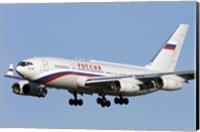 An Ilyushin Il-96 airliner prepares for landing Fine Art Print