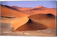 Aerial Scenic, Sossuvlei Dunes, Namibia Fine Art Print
