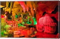 Cave stalagmites, stalactites, Mutianyu, China, Fine Art Print