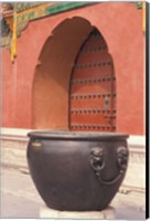 Fire Kettle by Doorway of the Palace Museum, Beijing, China Fine Art Print