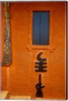 Adinkra Symbols on Shrine to Nana Yaa Asantewaa, Ejisu, Ghana Fine Art Print