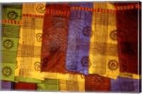 Detail of Adinkra Cloth, Market, Sampa, Brongo-Ahafo Region, Ghana Fine Art Print