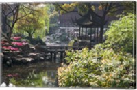Landscape of Traditional Chinese Garden, Shanghai, China Fine Art Print