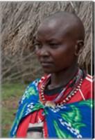 Kenya, Mara River Expedition, Mara Escarpment portrait Fine Art Print