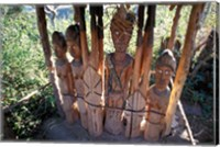 Statue Honoring Fallen Heroes, Konso Waka, Omo River Region, Ethiopia Fine Art Print