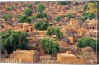 View of the Dogon Village of Songo, Mali Fine Art Print