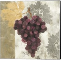 Acanthus and Paisley With Grapes  I Fine Art Print
