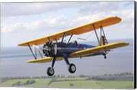 Close up of Boeing Stearman Model 75 Kaydet Fine Art Print