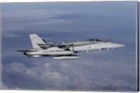 Side view of F-18 Hornet Fine Art Print