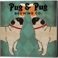 Pug and Pug Brewing Square Fine Art Print