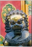 Bronze Lion, The Forbidden City, Beijing, China Fine Art Print
