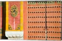 Inner Courtyard doors, The Forbidden City, Beijing, China Fine Art Print