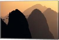 China, Huangshan Mountains, Sunlight Fine Art Print