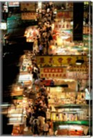 Temple Street Market, Kowloon, Hong Kong, China Fine Art Print