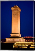 The Monument to the People's Heroes, Tiananmen Square, Beijing, China Fine Art Print
