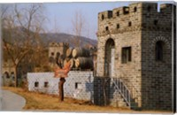 Entrance to Huaxia Winery Wine Cellar, Beijing, China Fine Art Print