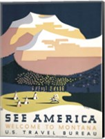 See America - Welcome to Montana I Fine Art Print