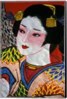 Geisha, Warrior Folk Art, Takamatsu, Shikoku, Japan Fine Art Print