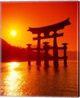O-Torii Gate, Itsukushima Shrine, Miyajima, Japan Fine Art Print