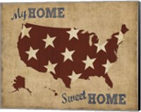 My Home Sweet Home USA Map Fine Art Print