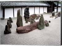 Stone Zen Garden, Kyoto, Japan Fine Art Print