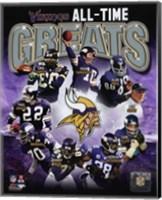 Minnesota Vikings All-Time Greats Composite Fine Art Print