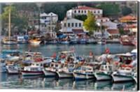 Old Harbor and boats in reflection Antalya, Turkey Fine Art Print