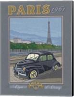 Paris 1961, 4CV Fine Art Print