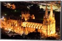 St Mary's Cathedral at Night,  Sydney, Australia Fine Art Print