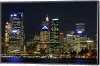 Sydney CBD at Night, Sydney Cove, Australia Fine Art Print