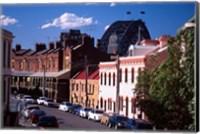 Historic Buildings and Sydney Harbor Bridge, The Rocks, Sydney, Australia Fine Art Print