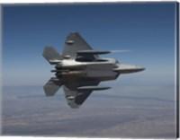 F-22 Raptor Maneuvers over New Mexico Fine Art Print