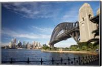 Australia, New South Wales, Sydney Harbour Bridge and CBD Fine Art Print