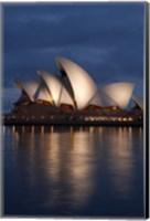 Australia, New South Wales, Sydney Opera House Silhouette Fine Art Print