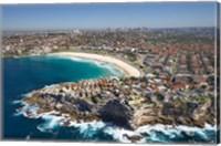 Australia, New South Wales, Sydney, Bondi Beach - aerial Fine Art Print