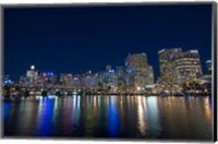 Darling Harbour at night, Sydney, New South Wales, Australia Fine Art Print