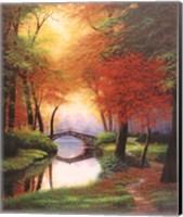 Beside still waters Fall Fine Art Print