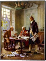 Writing of the Declaration of Independence Fine Art Print