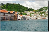 Grenada, St George, Carenage, Residential area Fine Art Print