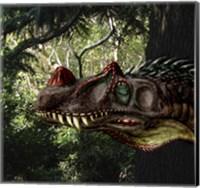 Ceratosaurus magnicornis of the Late Jurassic Period Fine Art Print