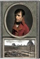 Napoleon Bonaparte Above a Troop Review Fine Art Print