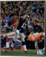 Tom Brady AFC Championship Game Action 2014 Playoffs Fine Art Print