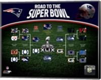 New England Patriots Road the Super Bowl Super Bowl XLIX Champions Bracket Fine Art Print